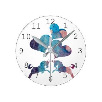 Unicorn Art Round Clock