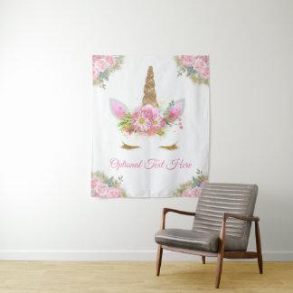 Unicorn Baby Shower Banner Backdrop Tapestry