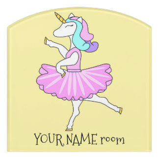 Unicorn Ballerina door sign
