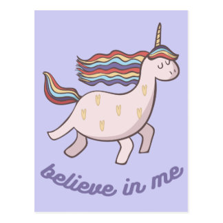 Unicorn Believe in Me Postcard