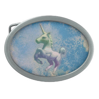 Unicorn Belt Buckle (Blue Arctic)