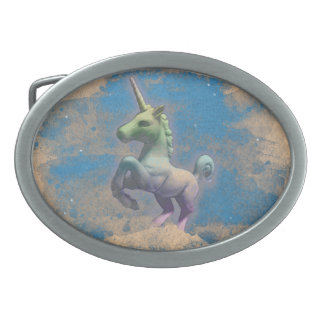 Unicorn Belt Buckle (Sandy Blue)
