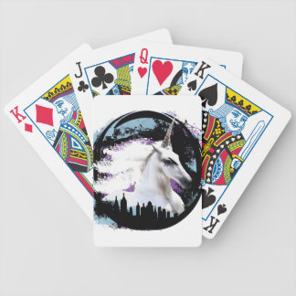 Unicorn Bicycle Playing Cards