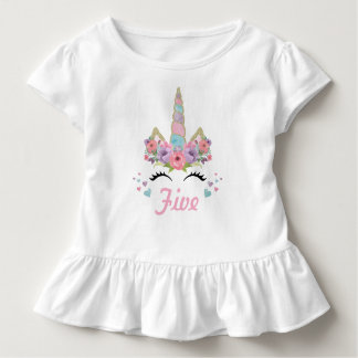 Unicorn Birthday Party Outfit Toddler T-Shirt