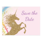 Unicorn Birthday Party Save The Date Postcards