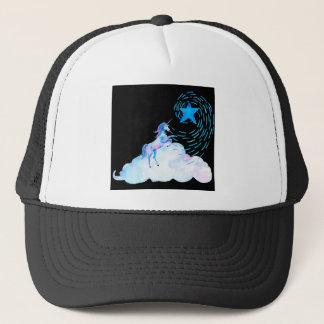 Unicorn black 1 trucker hat