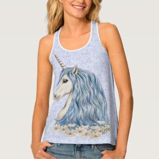 Unicorn Blue Hair Singlet