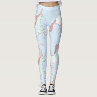 unicorn blue leggings