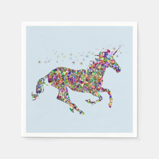 Unicorn Blue Paper Napkins