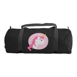 Unicorn cartoon gym duffel bag