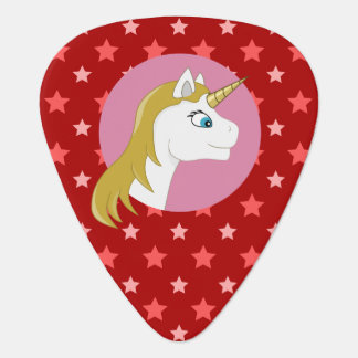 Unicorn cartoon plectrum