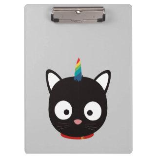 Unicorn Cat with rainbows Z0ml8 Clipboard