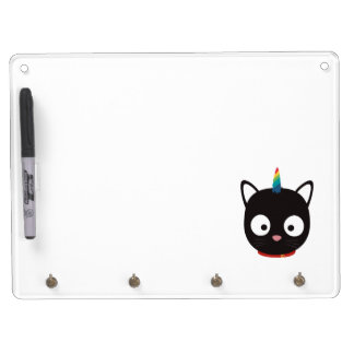 Unicorn Cat with rainbows Z0ml8 Dry Erase Board With Key Ring Holder
