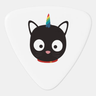Unicorn Cat with rainbows Z0ml8 Plectrum