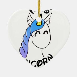 Unicorn Ceramic Heart Decoration