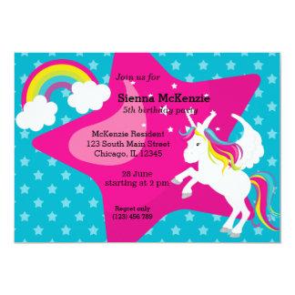 Unicorn * CHOOSE your background color 13 Cm X 18 Cm Invitation Card