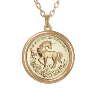 UNICORN COIN PENDANT NECKLACE