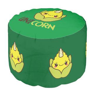 Unicorn Corn Cobb Pouf