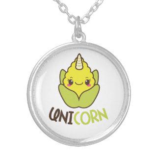 Unicorn Corn Cobb Silver Plated Necklace