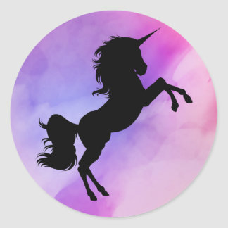 Unicorn designed colorfull pink purple stickers