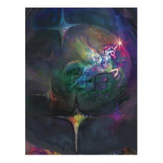 Unicorn Disco*** Postcard