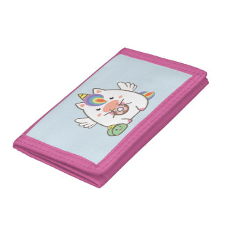 Unicorn & Donuts Trifold Wallet