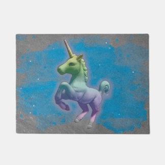 Unicorn Door Mat (Blue Nebula)