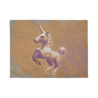 Unicorn Door Mat (Metal Lavender)