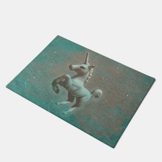 Unicorn Door Mat (Teal Steel)