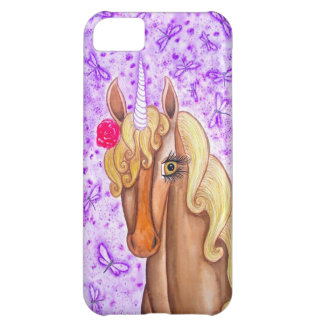 """Unicorn & Dragonflies"" iPhone 5C Cases"