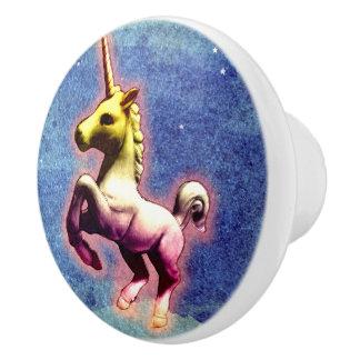 Unicorn Drawer Knob Pull Ceramic (Galaxy Shimmer)