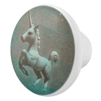 Unicorn Drawer Knob Pull Ceramic (Teal Steel)
