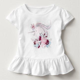 Unicorn Dream Toddler Ruffle Tee