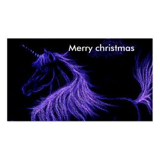 unicorn dreams Merry christmas Business Cards