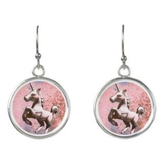 Unicorn Drop Dangly Earrings (Faded Sherbet)