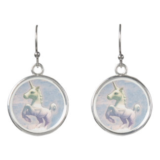 Unicorn Drop Dangly Earrings (Moon Dreams)