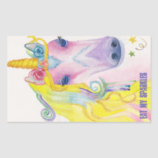Unicorn: Eat My Sparkles Rectangular Sticker
