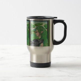 Unicorn Elf and Wolf Mug