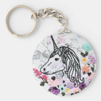 Unicorn Embroidery Keychain - Unicorn Keychain