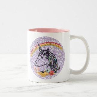Unicorn Embroidery Mug - Unicorn Mug