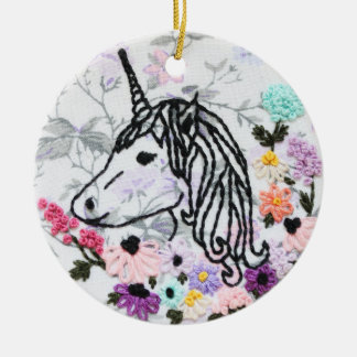 Unicorn Embroidery Ornament - Unicorn Ornament