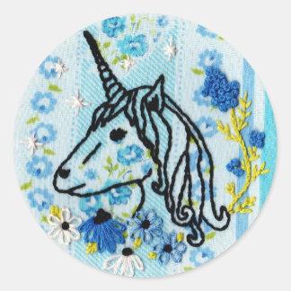 Unicorn Embroidery Sticker - Unicorn Sticker