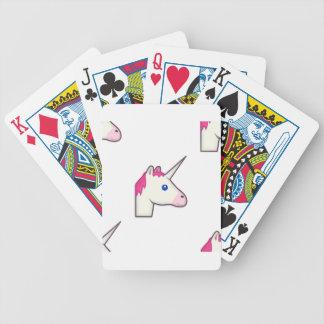 unicorn emoji bicycle playing cards