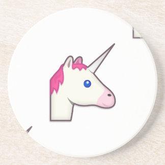 unicorn emoji coaster