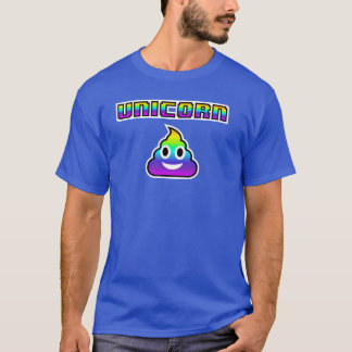 Unicorn Emoji Poop T-Shirt