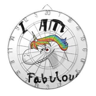 unicorn fabulous woman women mythical creature gri dartboard