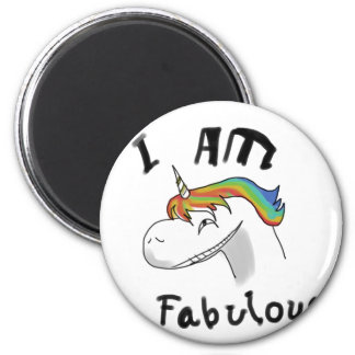 unicorn fabulous woman women mythical creature gri magnet