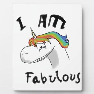 unicorn fabulous woman women mythical creature gri plaque