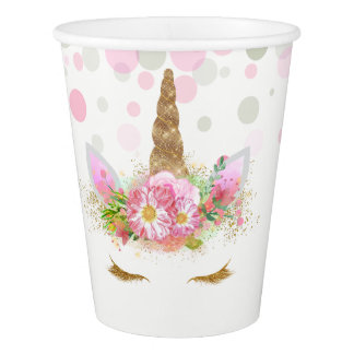 Unicorn Face Unicorn Paper Cups