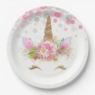 Unicorn Face Unicorn Paper Plates